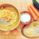 Para hoy: Tortitas vegetales. Doradas, esponjosas, mmmm..