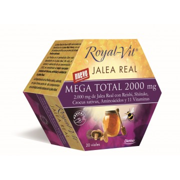 Jalea Real Mega Total Royal Vit 2000 mg. 20 amp. DIETISA