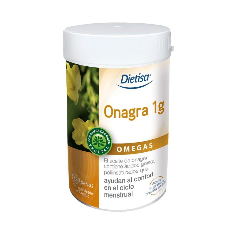 Onagra 1gr. 120 cap. 1000 mg. DIETISA