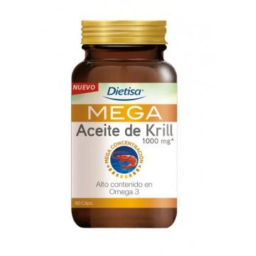 Mega Aceite de Krill 60 cap. 1000 mg. DIETISA