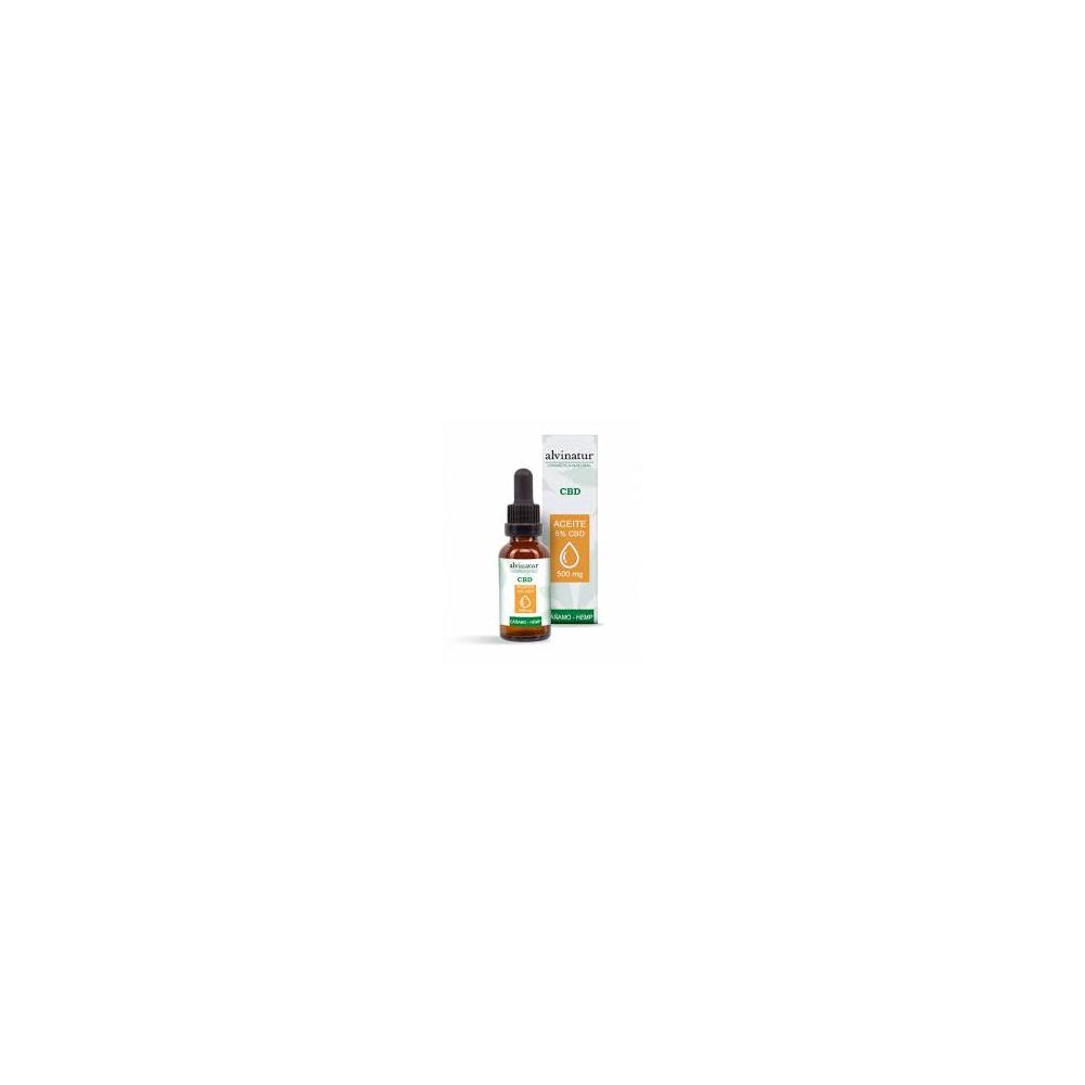 CBD aceite de cañamo  5% 10 ml. ALVINATUR