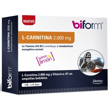 Carnitina 2000 mg. 14 viales BIFORM