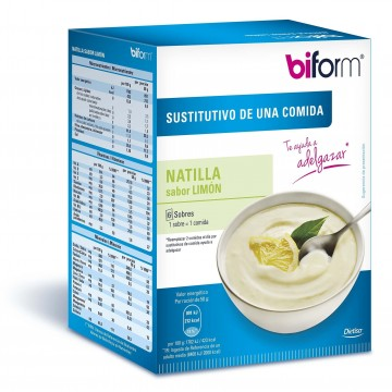 Natillas limon 6 sobres. Sustitutivo comidas BIFORM