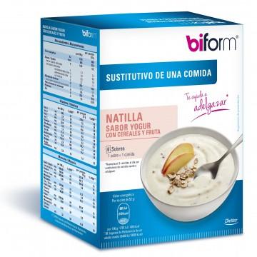Natillas yogur y cereales 6 sobres. sustitutivo comida BIFORM